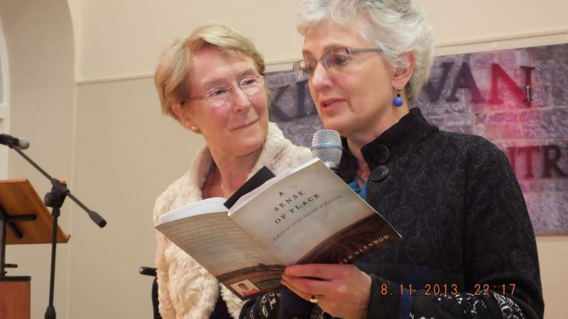 Dr-Anne-Louise-Gilligan-and-Senator-Katherine-Zappone-reading-from-a-Sense-of-Place